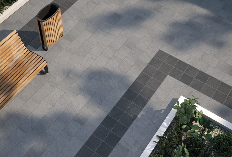 Ceramic Paving Stones for Urban Pavements and Public Works