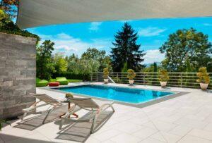 Suelos de exterior antideslizantes para piscinas modernas Small Size